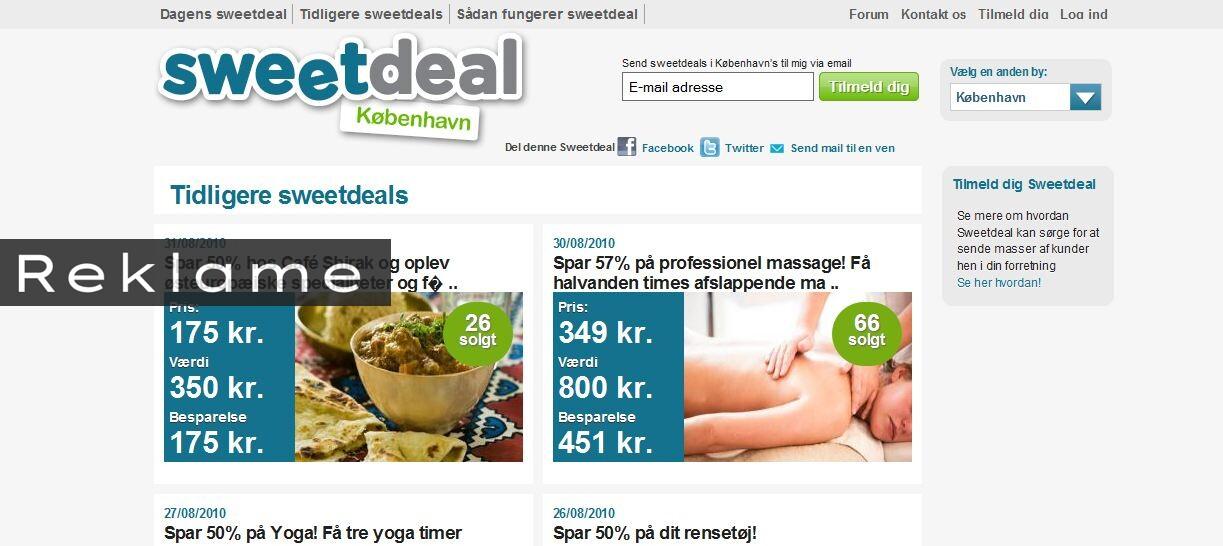 På sweatdeal.dk kan du spare store beløb på produkter og oplevelser