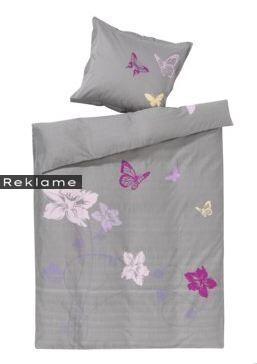 Sengetøjet i gråt er et af de to typer sengetøj, som Isabell Kristensen har designet for JYSK.